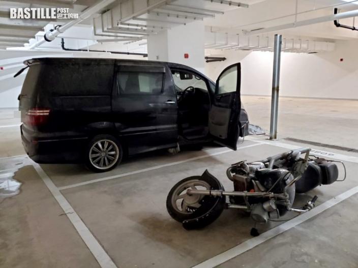 寶達邨停車場8車遭刑毀 車窗及擋風玻璃被打爛