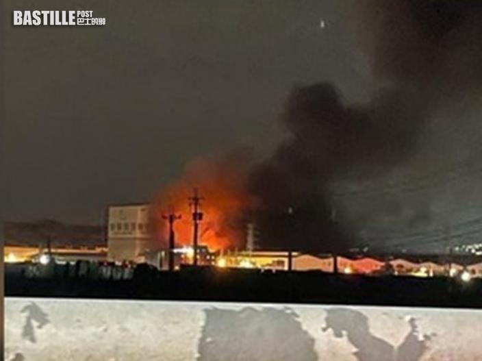 高雄鋼鐵工廠火警油桶爆炸 當局派13隊消防撲救