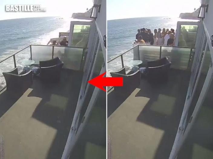 加州海景別墅開派對露台突塌下 15男女墮石灘