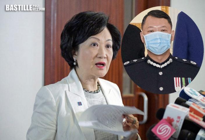 葉劉淑儀相信警方秉公調查 蔡展鵬是否有罪應交法庭定奪