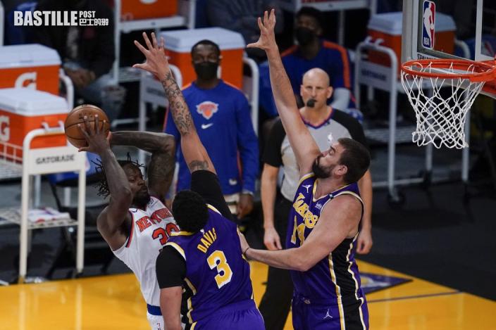 【NBA】紐約人加時後不敵湖人 錯過奪季後賽席位機會