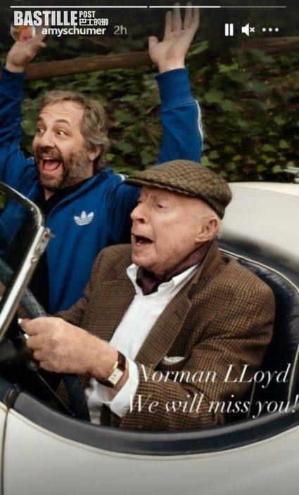 希治閣電影男星離世           Norman Lloyd享年106歲