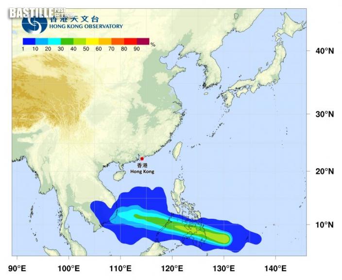 熱帶低氣壓形成 準「彩雲」料進入南海