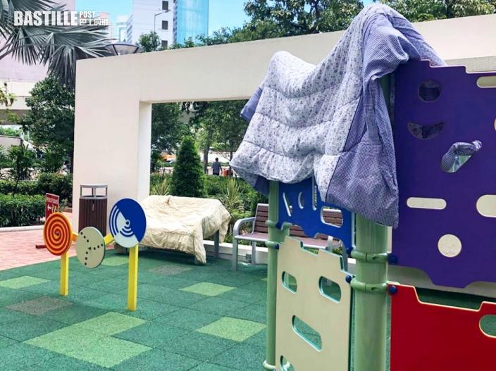 【Juicy叮】遊樂場遭佔用曬被 漁灣邨街坊無奈:公園設施仲污糟