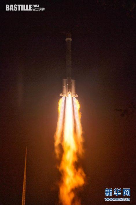 6月3日零時17分,我國在西昌衛星發射中心用長征三號乙運載火箭,成功將風雲四號02星送入預定軌道,發射任務獲得圓滿成功。新華社發(朱紀涵 攝)