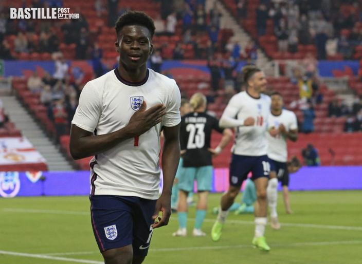 【歐國盃】布卡約沙卡建功 英格蘭友賽1:0挫奧地利