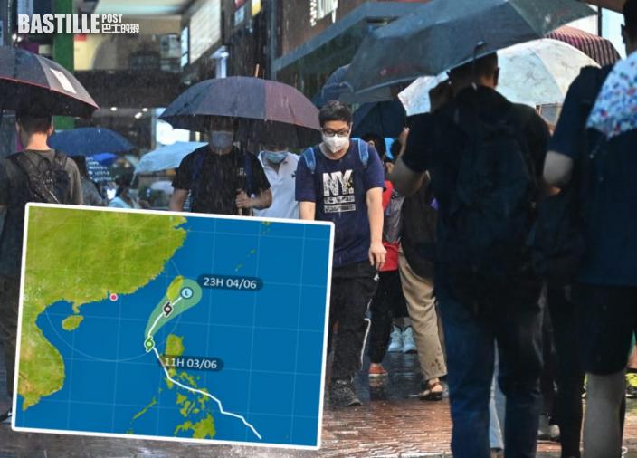 熱帶氣旋「彩雲」進入港800公里 天文台:無直接威脅