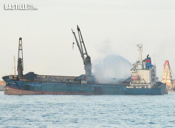 昂船洲躉船大火 海事處:無收到有人受傷或油污報告