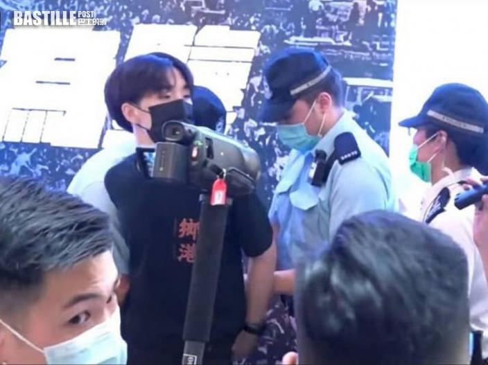 警方於旺角舉藍旗 賢學思政王逸戰涉「公眾地方行為不檢」被捕