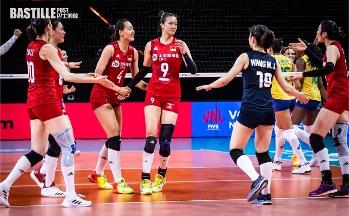 【排球】張常寧斬獲三十六分 中國女排3:2險勝巴西