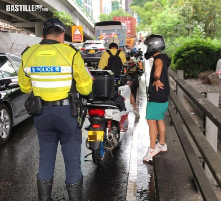 警港島打擊司機不專注駕駛 3日發282張告票