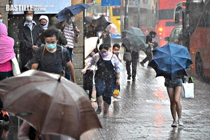 1號風球維持 短期內廣泛地區可能大雨