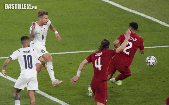 【歐國盃】推遲一年的揭幕戰 意大利贈土耳其三蛋