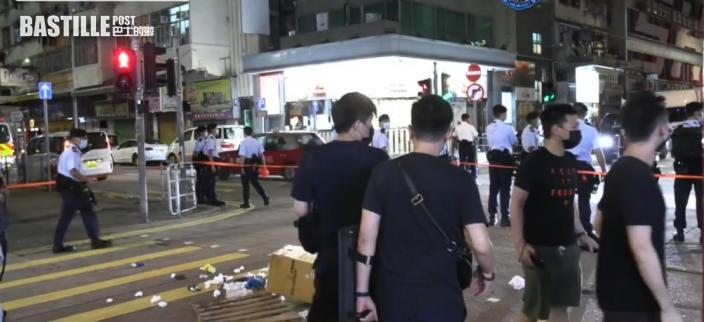 山東街搬雜物堵路 2名黑衣青少年涉行為不檢被捕