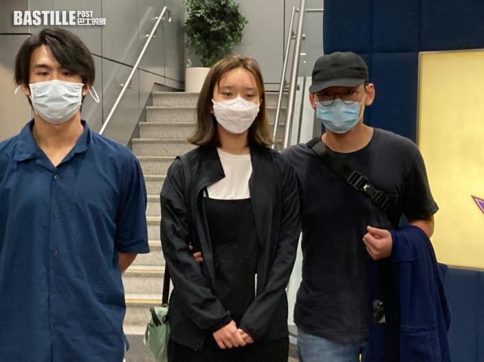 「賢學思政」王逸戰黃沅琳獲准保釋 7月中向警方報到