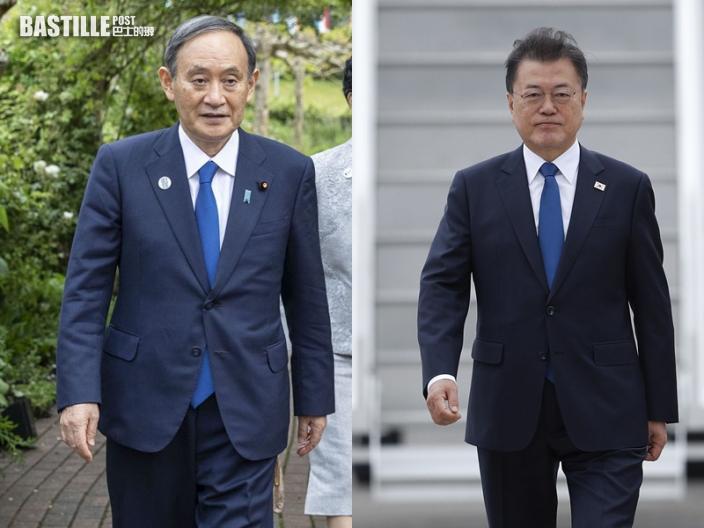 【G7峰會】文在寅與菅義偉互動交談 備受關注