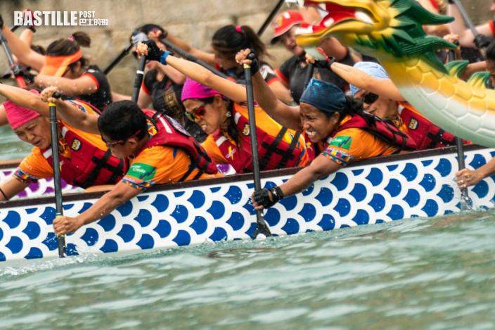 【龍舟】香港遊艇會辦吉列島盃龍舟賽 菲律賓外傭隊成焦點