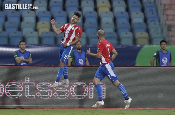【美洲盃】安祖羅美路梅開二度 巴拉圭3:1反勝玻利維亞