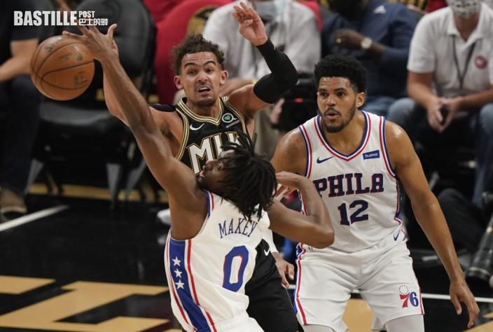 【NBA】楊格獲廿五分雙雙 鷹隊挫76人平場數