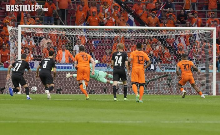 【歐國盃】迪比中鵠杜費斯建功 荷蘭鎖定首名晉級