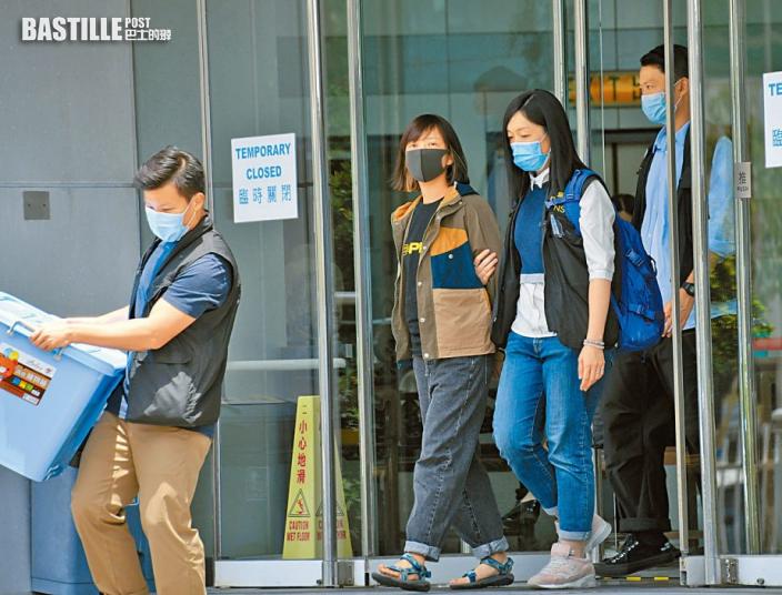 【壹傳媒案】警破門入屋拘陳沛敏 檢走其夫鍾沛權三部電腦