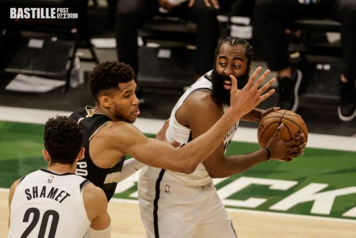 【NBA】字母哥米杜頓齊雙雙 公鹿3:3籃網搶七分勝負