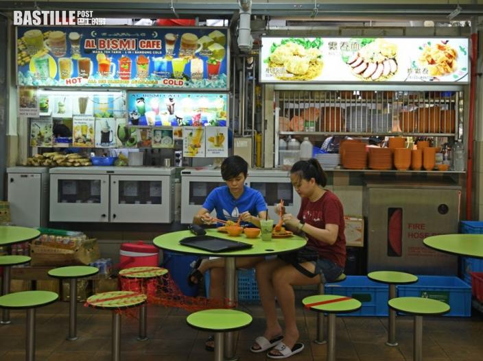 新加坡疫情放緩下周放寬防疫 開放堂食每枱限2人