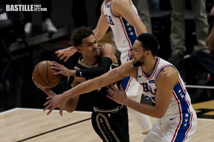 【NBA】安比廿二分雙雙 76人挫鷹隊要搶七決勝