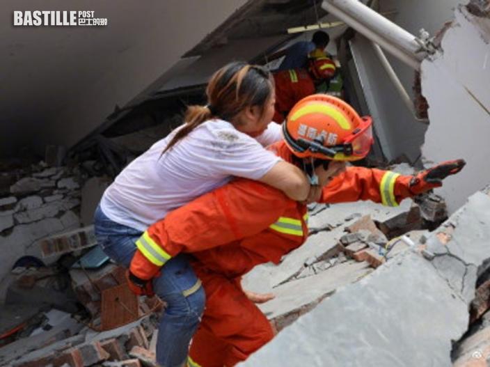 湖南汝城6層高民居倒塌 未有傷亡報告