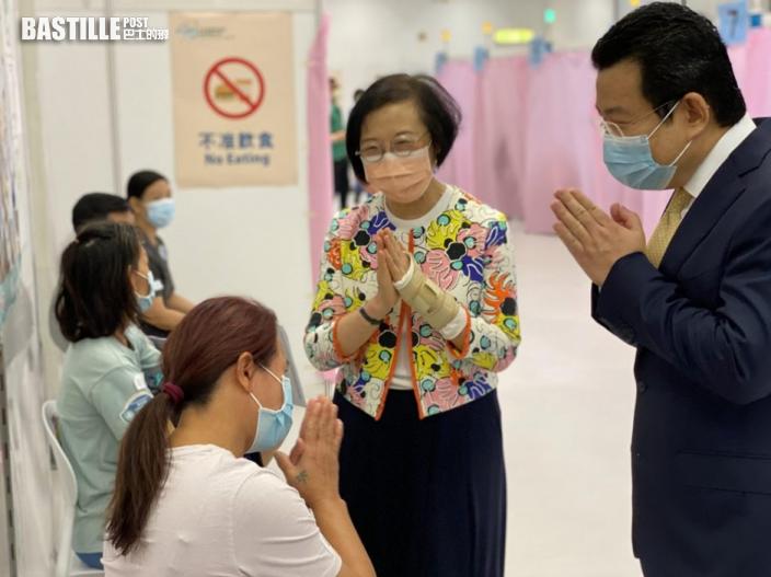 陳肇始視察少數族裔接種疫苗 籲善團鼓勵服務使用者打針