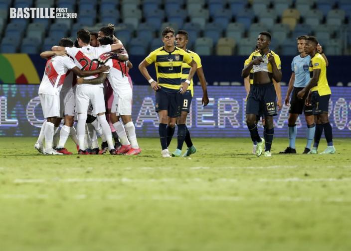 【美洲盃】秘魯六分鐘入兩球 2:2逼和厄瓜多爾