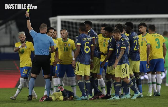 【美洲盃】補時補足十三分鐘 巴西2:1險勝哥倫比亞