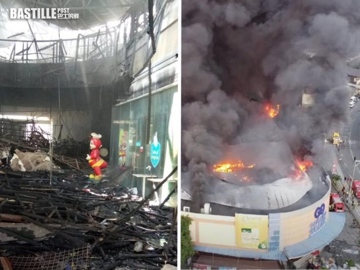 菲律賓商場大火 Jollibee吉祥物竟絲毫無損
