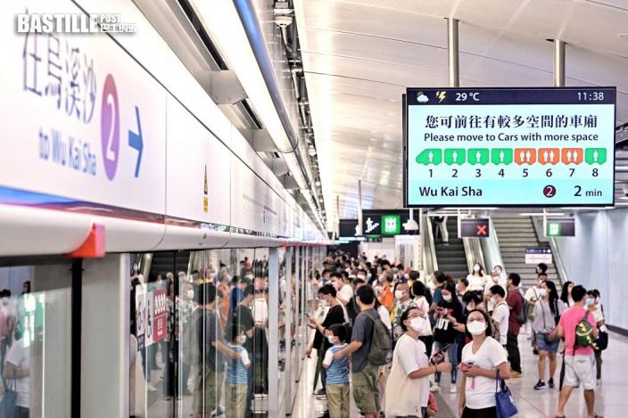 屯馬線全線通車運作暢順 2個新車站逾5.4萬人次入站