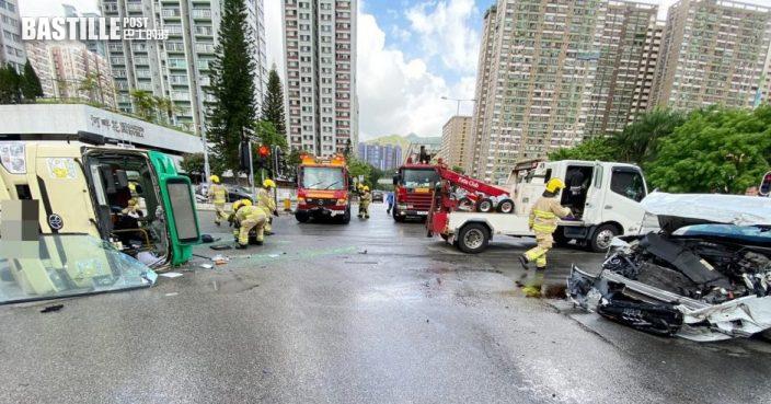 大涌橋路車輛釀1死8傷 警:將調查燈號情況及戴安全帶情況等