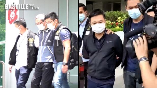 壹傳媒行政總裁張劍虹、《蘋果日報》總編輯羅偉光及3間公司,被控違反《香港國安法》的案件,今日在西九龍裁判法院提堂。