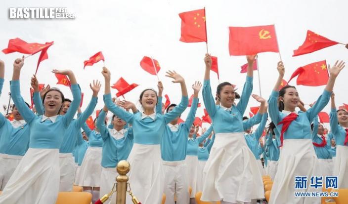 7月1日上午,慶祝中國共產黨成立100周年大會在北京天安門廣場隆重舉行。新華社記者 陳建力 攝