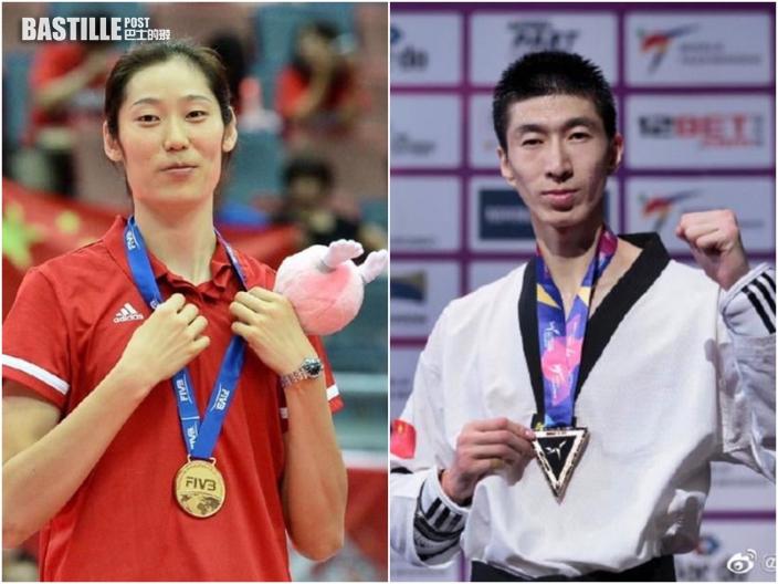 女排隊長朱婷及跆拳道運動員趙帥 將任中國代表團持旗手
