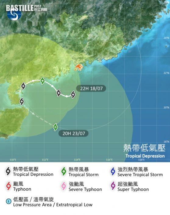 風暴料南海徘徊兜圈 或挑戰最長風球5日19小時記錄