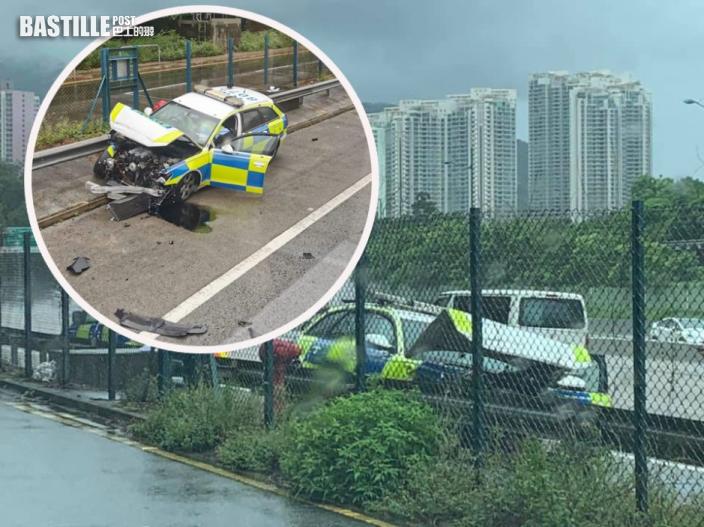北大嶼山公路警車自炒 1警受傷送院