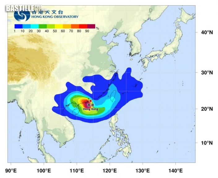 天文台即將改發3號強風信號 查帕卡靠近珠江口以西