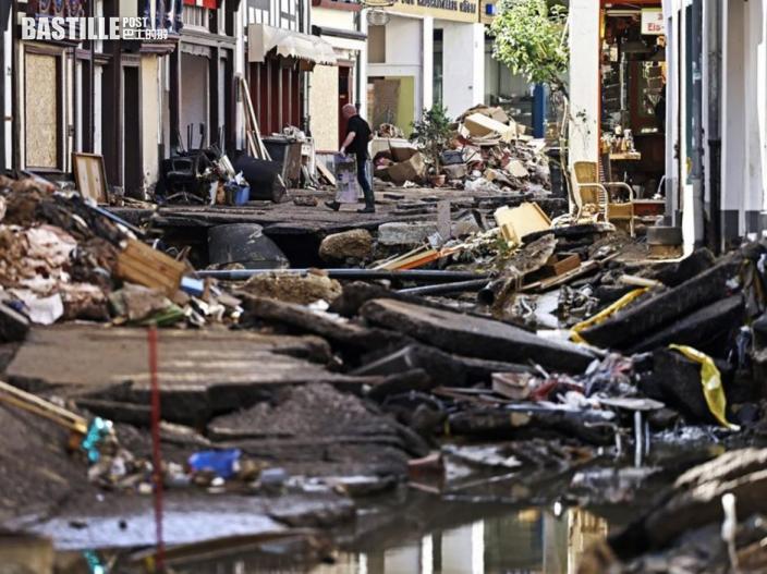 西歐水災最少191人死 默克爾視察災區感震驚