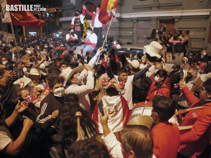 秘魯左派工會領袖卡斯蒂略當選總統 下周三宣誓就職
