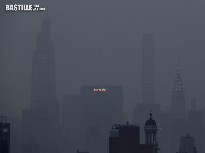 美國西岸山火煙霧飄至東岸 紐約發空氣污染警報