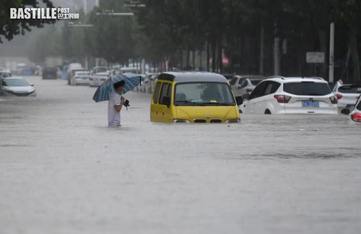 河南暴雨逾120萬人受災 鄭州市25死7人失蹤