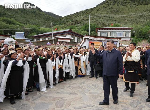 中央總書記習近平到西藏考察調研