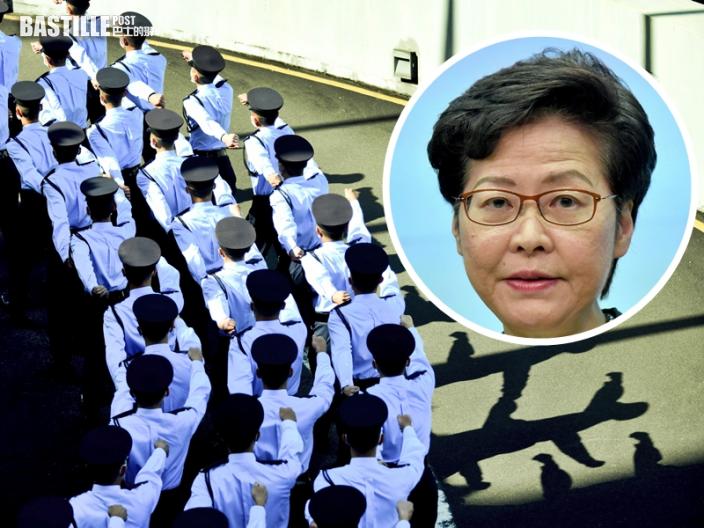 林鄭:同情暴徒及與警對立者 都欠警隊一個道歉