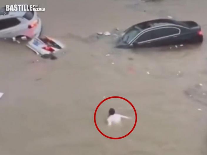 【鄭州暴雨】洪水沖車入隧道 45歲退伍特種兵1人救5人