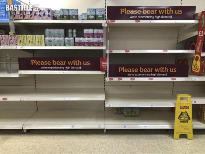 英國豁免部分食品業員工隔離 以解決食品供應短缺問題