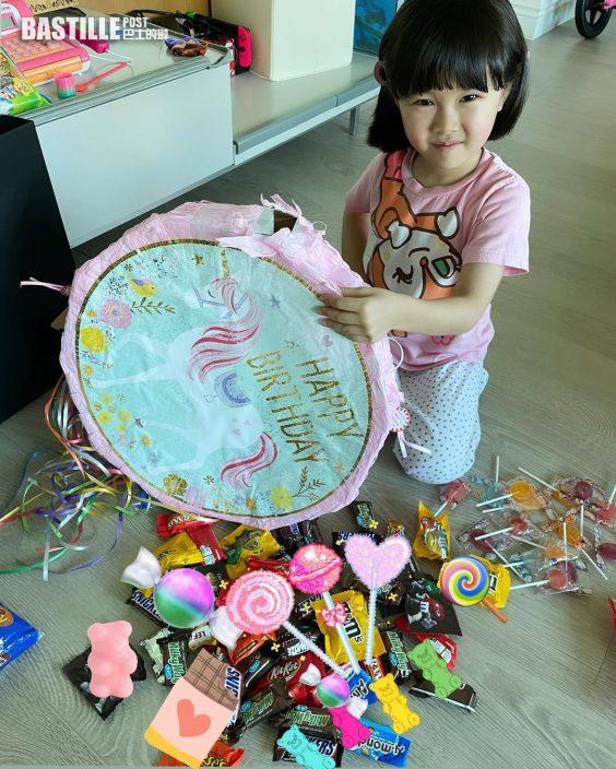 為囡囡搞5歲生日派對 關心妍全家變裝出動